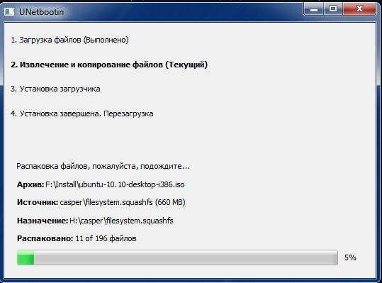 Программа Unetbootin
